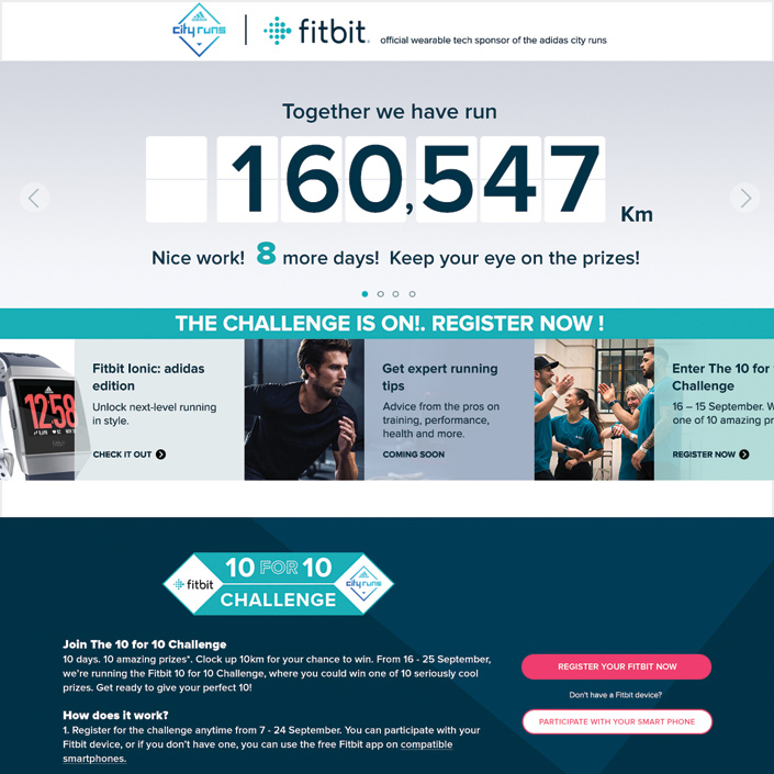 Fitbit Adidas Challenge Series