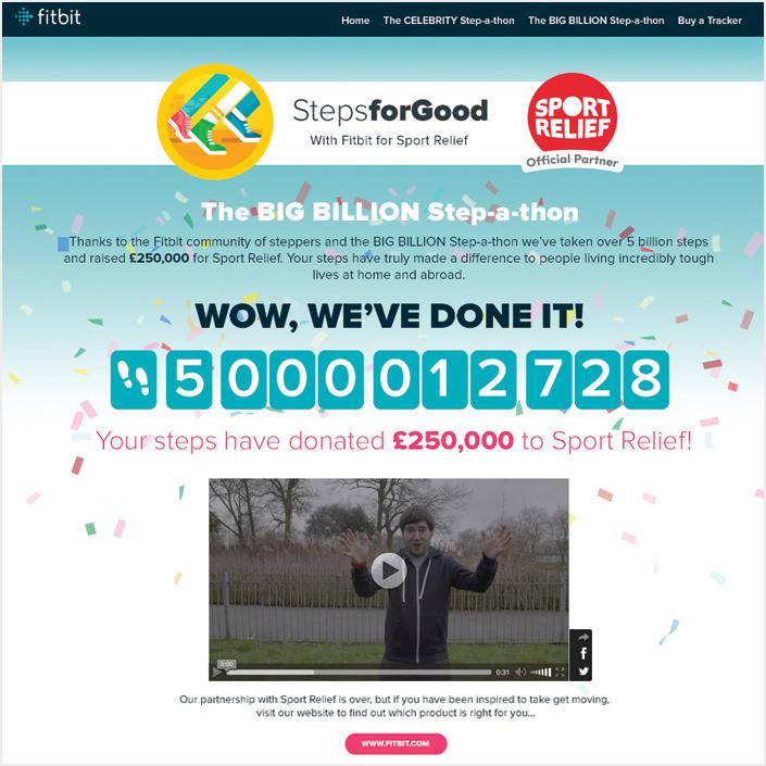 Fitbit Sport Relief Finale