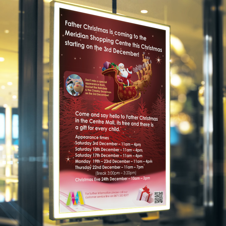 retail christmas promotion design
