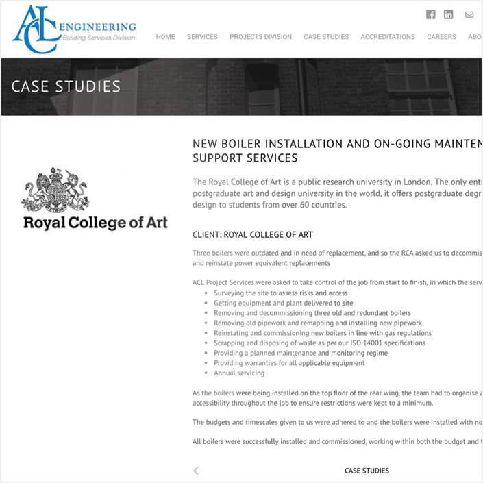 website case studies