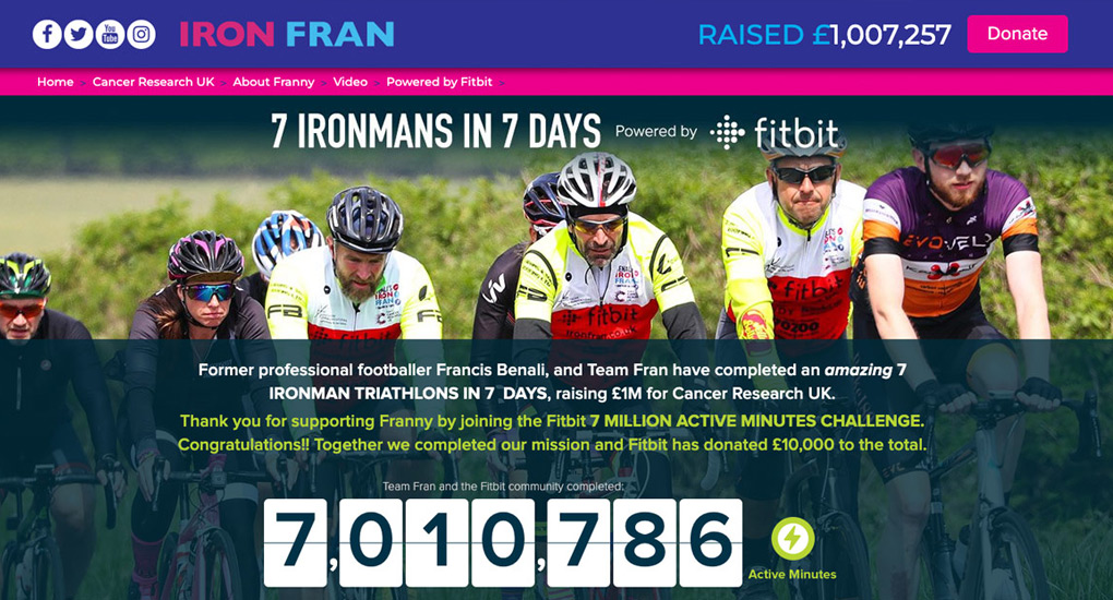 Fitbit for IronFran Challenge
