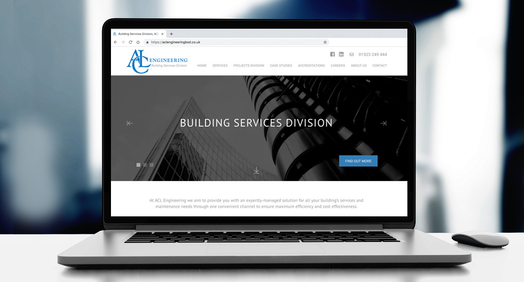 facilities management website design
