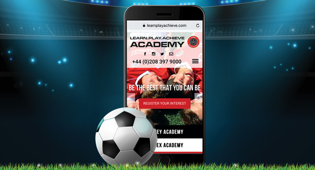soccer website design
