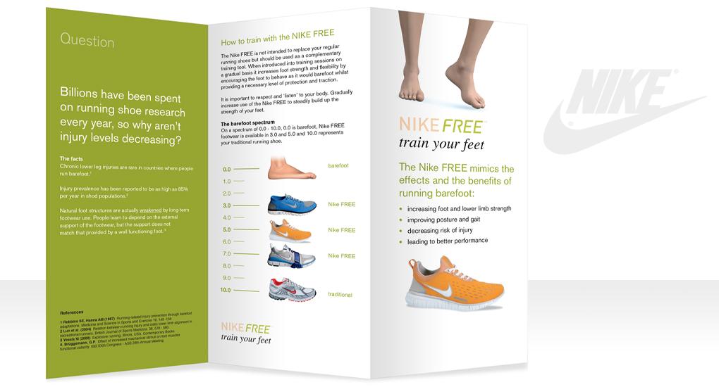 Nike Free Leaflet design