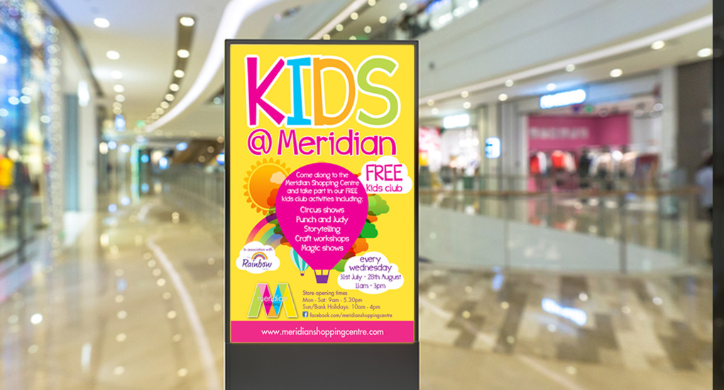 Meridian Shopping centre promotional poster