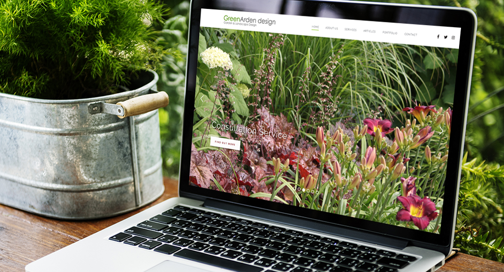 GreenArden website design